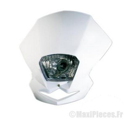 Déstockage ! tête de fourche polisport EMX blanche universel pour moto et 50 à boite