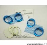 Déstockage ! Prise d'air ovale et grille décoration bleu anodisé