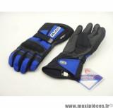Déstockage ! Gants HEBO North Cap bleu Taille S pour moto, scooter, quad, mob… (Produits pour le sport/loisir)