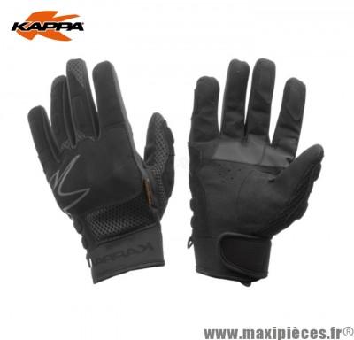Déstockage ! Gants moto/quad de marque Kappa mi-saison noir taille S (Produits pour sport/loisir)