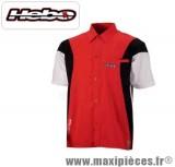 Déstockage ! Chemise Hebo coach paddock rouge pour motard mécanicien taille S