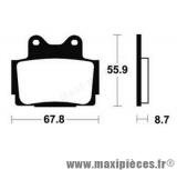Déstockage ! Plaquette de frein AP Racing pour Yamaha XJ600S/N 91-04