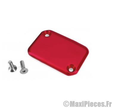 Déstockage ! Couvercle de maitre cylindre rouge anodisé pour mbk booster, nitro…