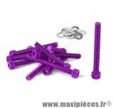 Déstockage ! Kit vis carter btr violet pour peugeot buxy trekker speedfight 1/2 (x11)