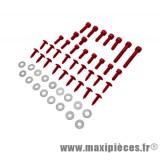 Déstockage ! Kit vis carrosserie rouge pour mbk/yamaha Rocket NG (x35)