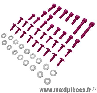 Déstockage ! Kit vis carrosserie violet pour mbk/yamaha Rocket NG (x35)