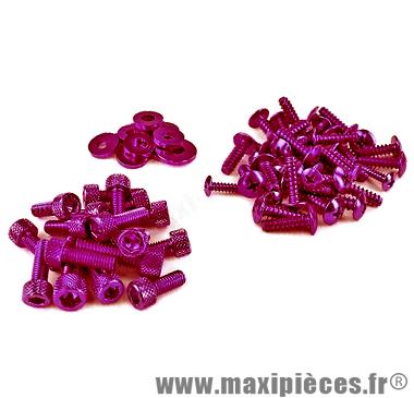 Déstockage ! Kit vis carrosserie violet pour mbk/yamaha Nitro Aérox (x55)