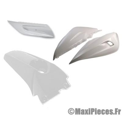 Déstockage ! coque arrière, dosseret et bas de caisse BCD blanc pour mbk nitro et Yamaha Aerox de 1997 à 2012