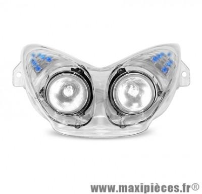 Déstockage! Double optique halogène + leds bleu transparent nitro aérox