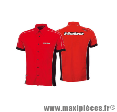 Déstockage ! Chemise Hebo paddock rouge taille S