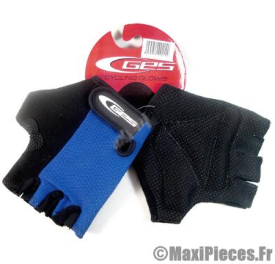 Gants mitaine été ges moto cross vélo cycliste vtt bmx bleu/noir taille M (medium) (Produits pour le sport/loisir)
