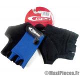Gants mitaine été ges moto cross vélo cycliste vtt bmx bleu/noir taille L (large) (Produits pour le sport/loisir)