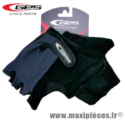 Gants mitaine été basic moto cross vélo cycliste vtt bmx gris/noir taille XL (small) (Produits pour le sport/loisir)