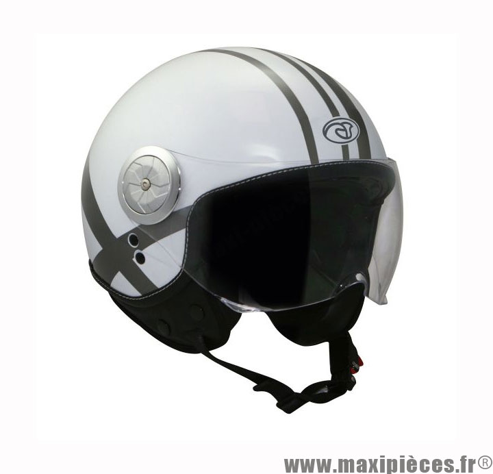 casque moto jet aviateur sunset x blanc brillant taille xl maxi pi ces 50. Black Bedroom Furniture Sets. Home Design Ideas