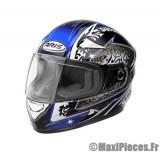 Destockage casque intégral de marque «Aris Speed» noir et bleu (Homologué) Taille XL (61-62 cm)