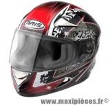 Destockage casque intégral de marque «Aris Speed» noir et rouge (Homologué) Taille XL (61-62 cm)