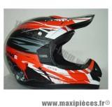 Destockage casque cross de marque «2 Day TDH off road» rouge et noir mat (Homologué) Taille XL (61-62 cm)