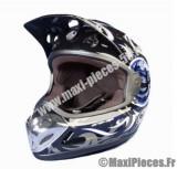 Destockage casque cross de marque «Aris mx2» noir et bleu (Homologué) Taille XL (61-62 cm)