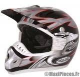 Destockage casque cross de marque «RC assault» noir, gris et rouge (Homologué) Taille XL (61-62 cm)