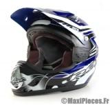 Destockage casque cross de marque «RC fullpower» bleu, noir et blanc (Homologué) Taille XL (61-62 cm)