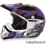 Destockage casque cross de marque «RC assault» noir, bleu et rouge (Homologué) Taille XL (61-62 cm)