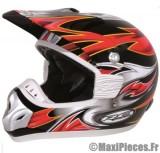 Destockage casque cross de marque «RC assault» rouge, noir et jaune (Homologué) Taille L (59-60 cm)