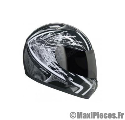 Destockage casque intégral de marque «Hokkey Fighter RPM» noir et blanc (Homologué) Taille XL (61-62 cm)