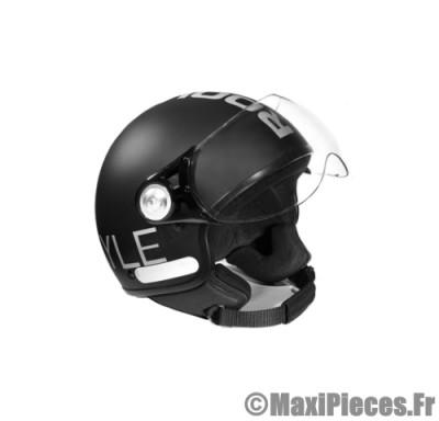 Destockage casque bol demi-jet de marque «Rook» noir mat (Homologué) Taille L (59-60 cm)