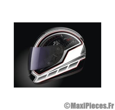 Prix discount ! Casque intégral de marque «Helmets Speed» noir et blanc (Homologué) Taille L (59-60 cm)