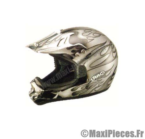 equipement casque moto cross enduro atlas gris flamme. Black Bedroom Furniture Sets. Home Design Ideas