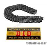 Prix discount ! chaine D.I.D (420) 132 maillons (noir) pour 50 à boite
