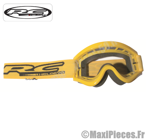Lunette cross masque RC jaune.