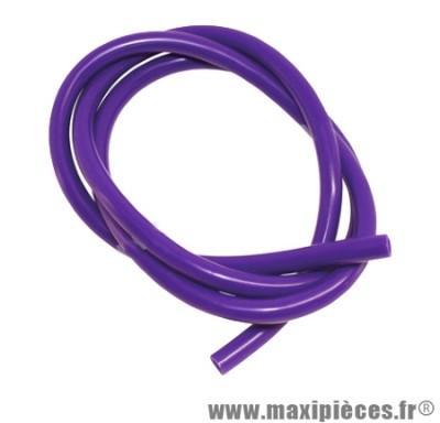 Destockage ! durite d'essence 5mm bleu-parme (violet) diametre extensible (interieur 5mm par 8mm exterieur/vendu par 1 metres)