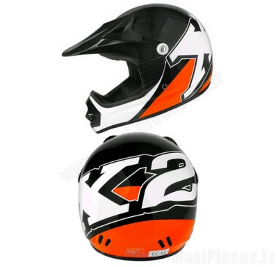 Casque cross enfant Helmet X2 noir/orange taille M(50)