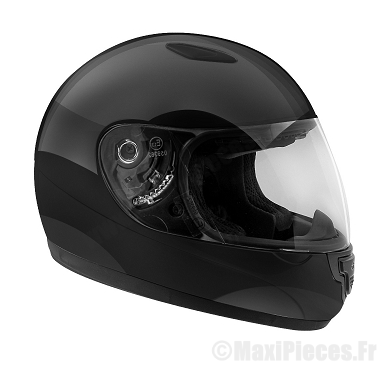 Casque intégral enfant Helmet noir taille L (52/53)