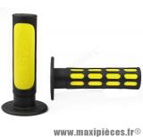 Destockage ! Paire de poignées Fast noir et jaune