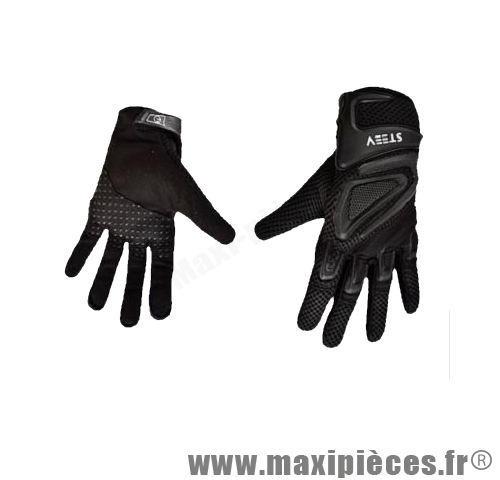 gants moto t steev noir taille 10 xl pour scooter quad mob maxi pi ces 50. Black Bedroom Furniture Sets. Home Design Ideas