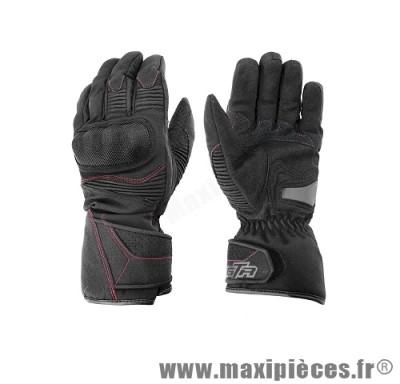 Gants hiver GTR Blizzard (taille XXL) waterproof coques black pour scooter, moto, quad, cyclomoteur… (Produits pour le sport/loisir)