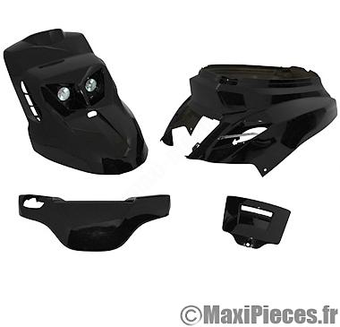 kit carrosserie carénage noir pour mbk booster yam bws (2004 et après)