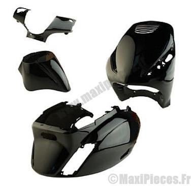 Kit carrosserie carénage noir brillant pour piaggio zip 50cm³ (4 pièces)