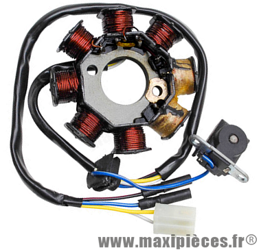 stator allumage pour scooter chinois gy6 139qmb 4t, peugeot kisbee, vclic…