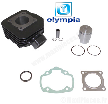 kit cylindre piston Olympia fonte pour peugeot vivacty, speedfight, elyseo…