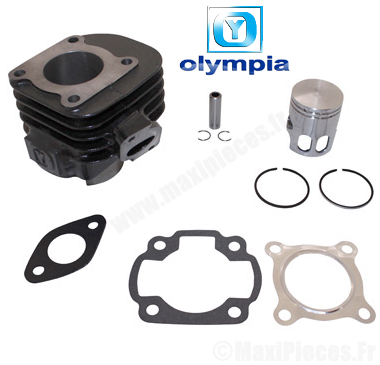 kit cylindre piston Olympia fonte pour mbk ovetto, mach-g (axe de 10mm)