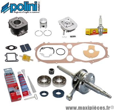 Pack kit moteur complet Polini pour mbk booster, spirit, stunt, rocket, bws, spy, ng, slider ...