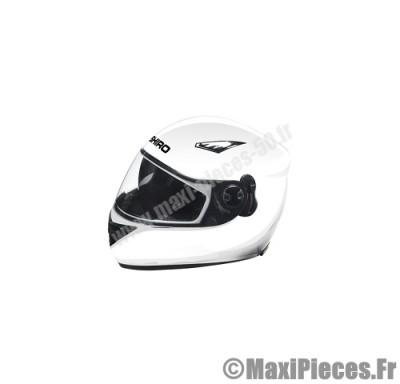 casque intégral shiro sh-830 motorland uni blanc brillant taille s (double écran)