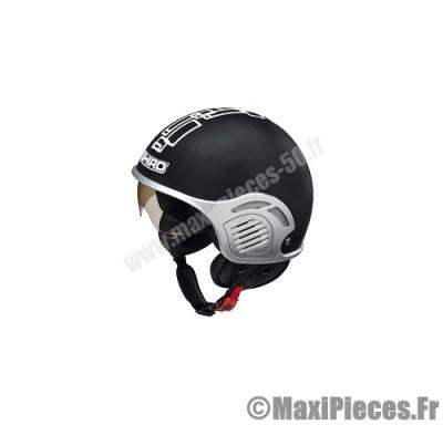 casque jet shiro sh-482 glory noir mat taille l (demi-jet)