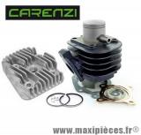 kit haut moteur fonte 50 cc carenzi avec culasse adaptable : mbk ovetto mach-g pgo neos jog aprilia sr50 rally malaguti f10 f12 f15...