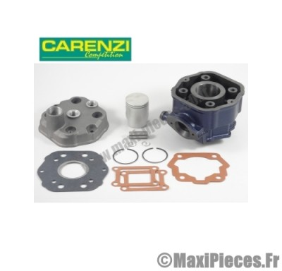 kit haut moteur 50cc carenzi fonte cylindre piston + culasse adaptable : pour moteur euro2 derbi gpr senda drd sm 50 x-treme x-race gilera gsm ...