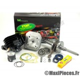 pack kit moteur complet top performances black trophy : mbk booster spirit stunt rocket next generation yamaha bws spy ng slider ... (haut moteur fonte, vilo renforcé, roulement, joint...)