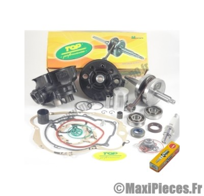 pack 50cc kit moteur complet top performances (haut moteur fonte, vilo renforcé, roulement, joint...)pour:am6 rs rx mx tzr dtr dtx xp6 xps x-limit power beta rr sm mrx rs2 smx spike hrd ...